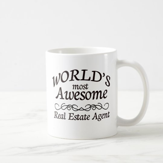 World's Most Awesome Real Estate Agent Coffee Mug