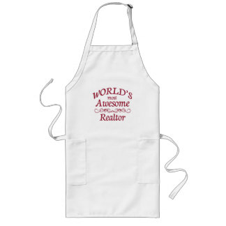 World's Most Awesome Realtor Long Apron