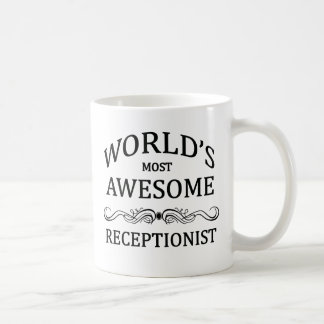 World's Most Awesome Receptionist Classic White Coffee Mug