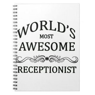 World's Most Awesome Receptionist Notebook