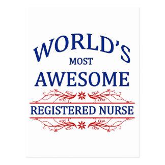 World's Most Awesome Registered Nurse Postcard