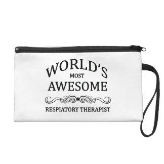 World's Most Awesome Respiratory Therapist Wristlet