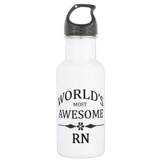 World's Most Awesome Rn Stainless Steel Water Bottle