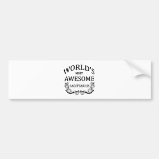 World's Most Awesome Sagittarius Bumper Sticker