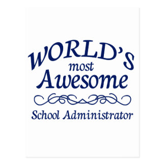 World's Most Awesome School Administrator Postcard