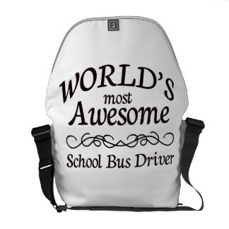 World's Most Awesome School Bus Driver Courier Bag