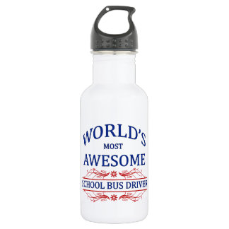 World's Most Awesome School Bus Driver Stainless Steel Water Bottle