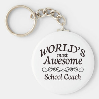 World's Most Awesome School Coach Keychain