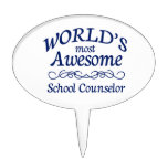 World's Most Awesome School Counselor Oval Cake Topper