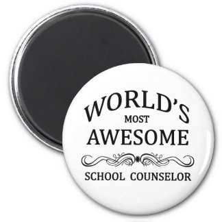 World's Most Awesome School Counselor Refrigerator Magnets