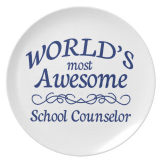 World's Most Awesome School Counselor Plate