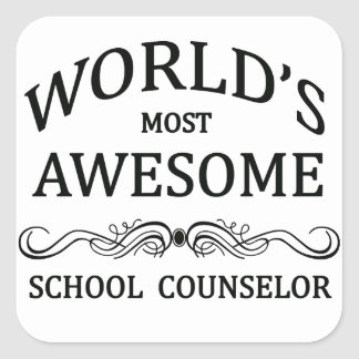 World's Most Awesome School Counselor Square Sticker