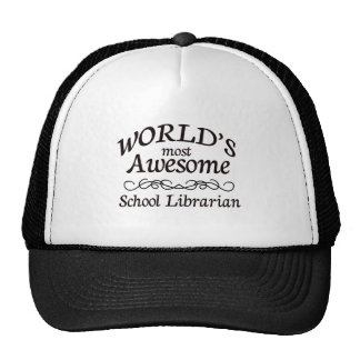 World's Most Awesome School Librarian Mesh Hat