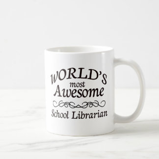 World's Most Awesome School Librarian Classic White Coffee Mug