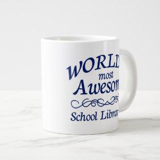 World's Most Awesome School Librarian 20 Oz Large Ceramic Coffee Mug