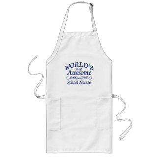World's Most Awesome School Nurse Long Apron
