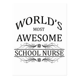 World's Most Awesome School Nurse Postcard