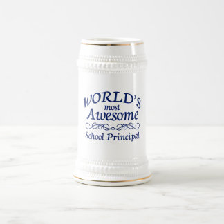 World's Most Awesome School Principal Beer Stein