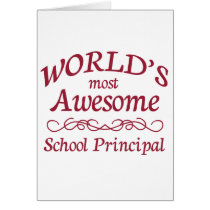 World's Most Awesome School Principal Card