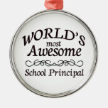 World's Most Awesome School Principal Christmas Ornaments