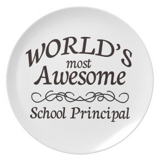 World's Most Awesome School Principal Plate