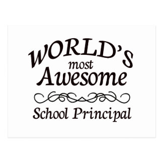World's Most Awesome School Principal Postcard