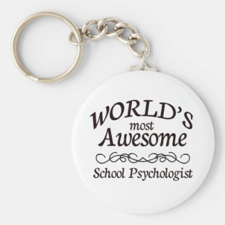World's Most Awesome School Psychologist Keychain