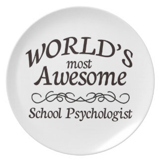World's Most Awesome School Psychologist Melamine Plate