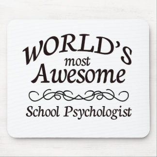 World's Most Awesome School Psychologist Mousepads