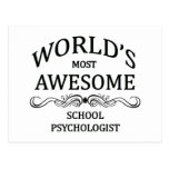 World's Most Awesome School Psychologist Postcard