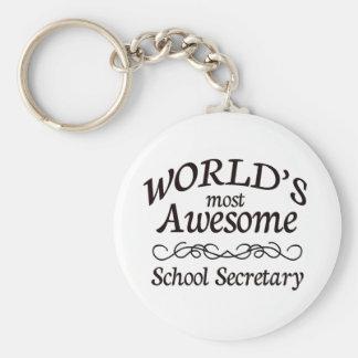 World's Most Awesome School Secretary Keychain