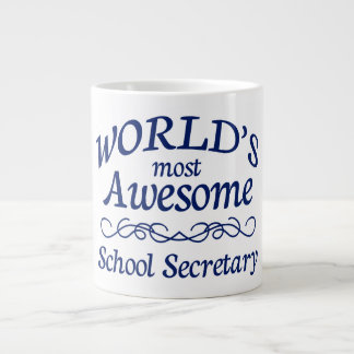World's Most Awesome School Secretary Large Coffee Mug
