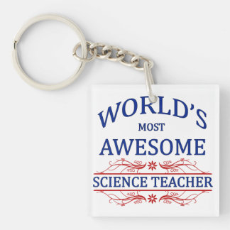World's Most Awesome Science Teacher Keychain