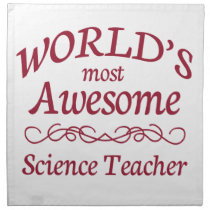 World's Most Awesome Science Teacher Napkin