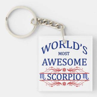World's Most Awesome Scorpio Keychain
