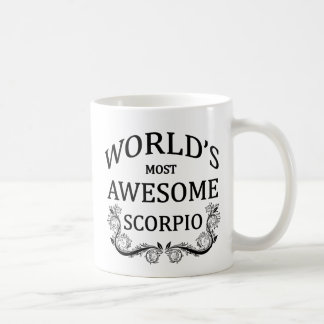 World's Most Awesome Scorpio Classic White Coffee Mug
