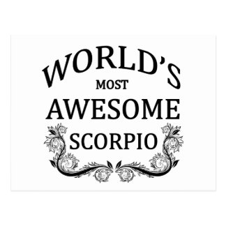World's Most Awesome Scorpio Postcard