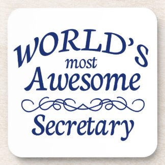 World's Most Awesome Secretary Drink Coaster