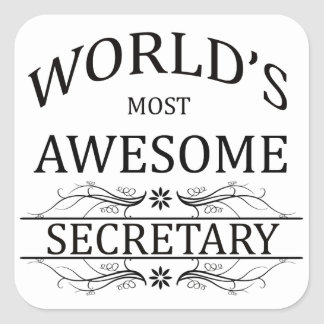 World's Most Awesome Secretary Square Sticker