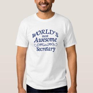 World's Most Awesome Secretary T-Shirt