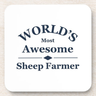 World's most awesome sheep farmer drink coaster