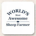 World's most awesome sheep farmer drink coasters