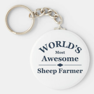 World's most awesome sheep farmer keychain