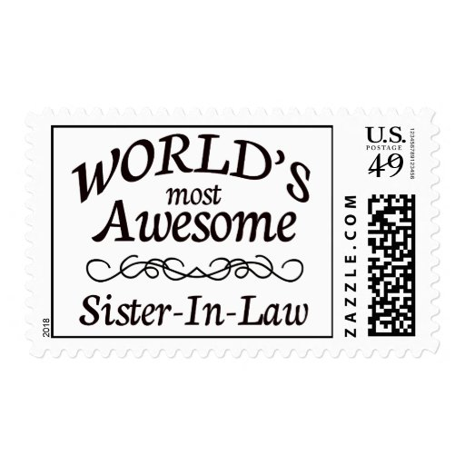 World's Most Awesome Sister-In-Law Postage