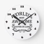 World's  Most Awesome Sister-In-Law Wallclock