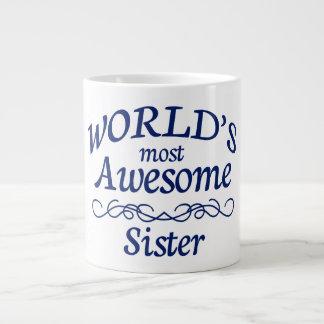 World's Most Awesome Sister Large Coffee Mug