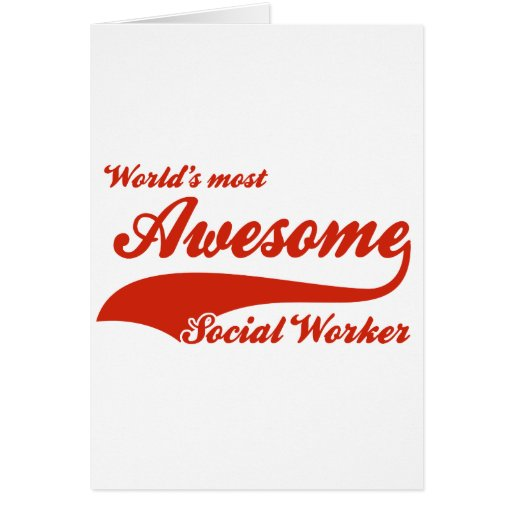 World's Most Awesome social worker Card