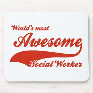 World's Most Awesome social worker Mouse Pads