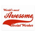 World's Most Awesome social worker Postcard