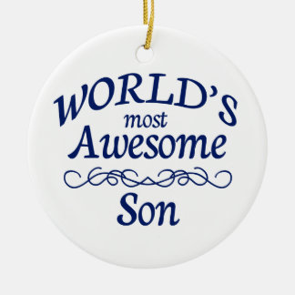 World's Most Awesome Son Ceramic Ornament
